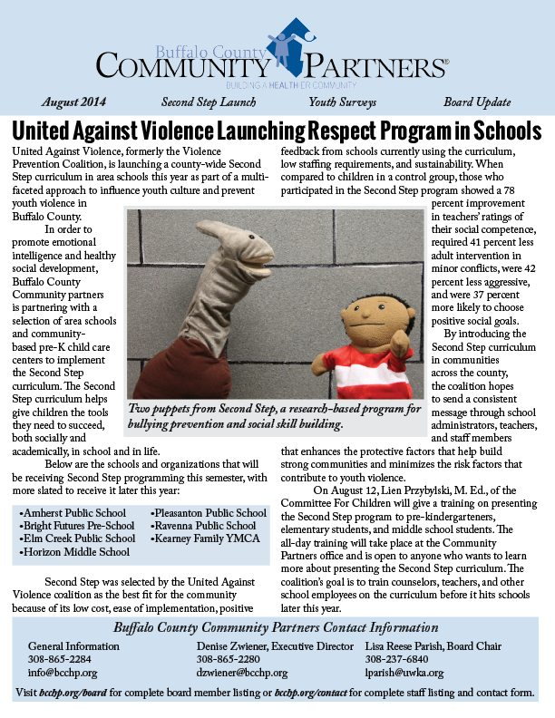 Read Community Partners' August 2014 Newsletter