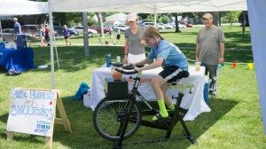 Everyone had a blast churning smoothies with the bike blender at our Community Building Block Party!
