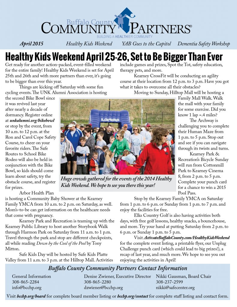Read Community Partners' April 2015 Newsletter