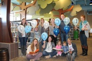 Buffalo County Community Partners Staff and 2015 Campaign Family, come together to celebrate the reaching of the Annual Campaign Goal. Left to right, front: Ariane Arensdorf, Denise Zwiener, Skyler Kuntz, Brady Kuntz, Michelle Toukan; Back: Sarah McCaslin, Ann Huffman, Tana Miller, Candy Kuntz, Bryan Kuntz, Kate Hannon.
