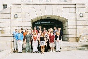 Buffalo County YAB on steps of Capitol.