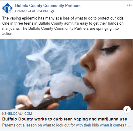 Buffalo County Works to Curb Teen Vaping Use